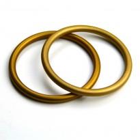 RS kroužky zlaté (1 pár)