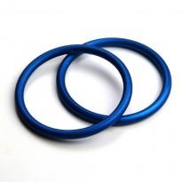 Kroužky na ringsling 87mm modré (1 pár)