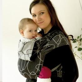 DidyTai Elipsy černé-ecru - DIDYMOS nosítko od narození