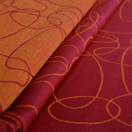 Elipsy rubín-mandarinka - DIDYMOS šátek na nošení dětí