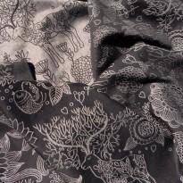 Zauberwald monochrom Leinen - DIDYMOS šátek na nošení dětí
