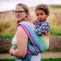 Lisca White Rainbow - DIDYMOS šátek na nošení dětí