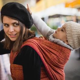 Prima rubín-mandarinka - DIDYMOS šátek na nošení dětí
