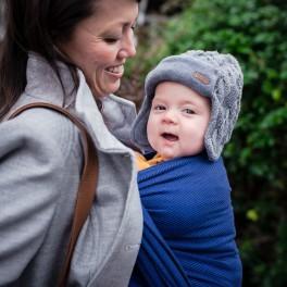 Lisca Dark blue - DIDYMOS šátek na nošení dětí