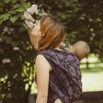 Dahlia Lin Leinen - DIDYMOS šátek na nošení dětí