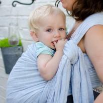 Crepelino Azur - DIDYMOS šátek na nošení dětí