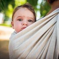 Doubleface Natur Lino - DIDYMOS šátek na nošení dětí