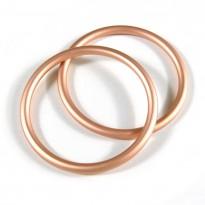 RS kroužky rosé-gold (1 pár)