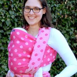 Pinke Punkte Hanf - DIDYMOS šátek na nošení dětí