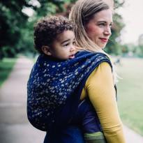 Sparkle gold Leinen - DIDYMOS šátek na nošení dětí