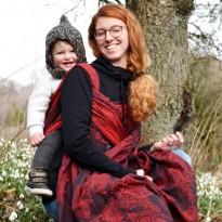Zauberwald Feuervogel - DIDYMOS šátek na nošení dětí