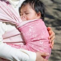 Kirschblüten Ibuki Seide - DIDYMOS šátek na nošení dětí