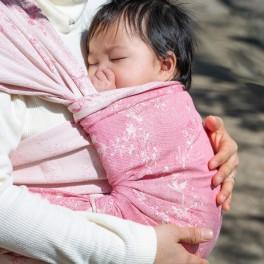 Kirschblüte Ibuki Seide - DIDYMOS šátek na nošení dětí