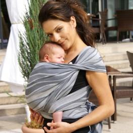 Vlny stříbrné - DIDYMOS šátek na nošení dětí