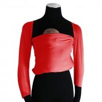 Bonding top s rukávy červený - DIDYMOS klokánkovací kapsa