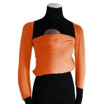 Bonding top s rukávy oranžový - DIDYMOS klokánkovací kapsa