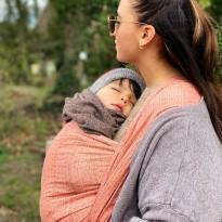 Prima Blush Leinen - DIDYMOS šátek na nošení dětí