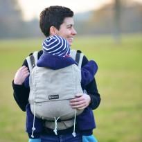 DidySnap Silber - DIDYMOS rostoucí ergonomické nosítko od narození