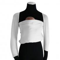 Bonding top s rukávy bílý - DIDYMOS klokánkovací kapsa