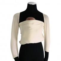 Bonding top s rukávy přírodně bílý - DIDYMOS klokánkovací kapsa