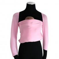 Bonding top s rukávy růžový - DIDYMOS klokánkovací kapsž