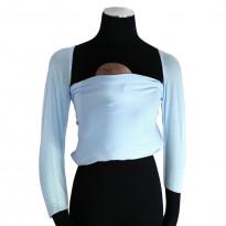 Bonding top s rukávy ledově modrý - DIDYMOS klokánkovací kapsa